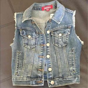 NWT Cut off Blue Jean Vest